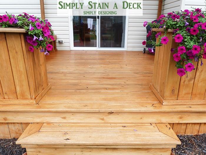 spray stain deck