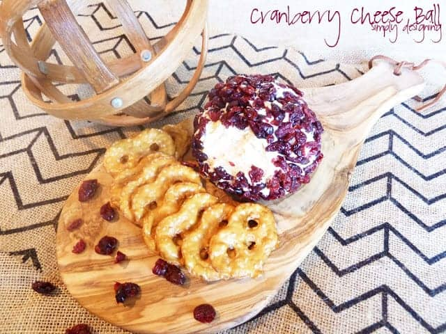 This cranberry cheese ball is the perfect combination of savory and sweet and is the perfect appetizer to serve at any holiday gathering