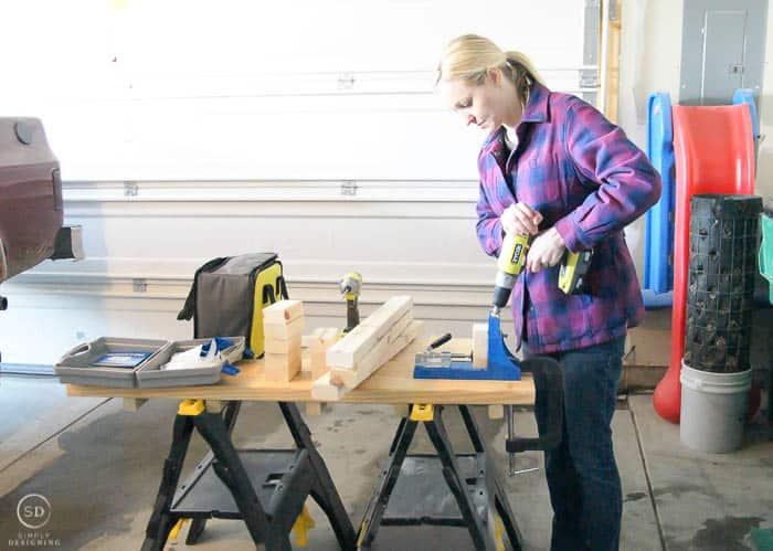 use a kreg jig for diy floating shelves