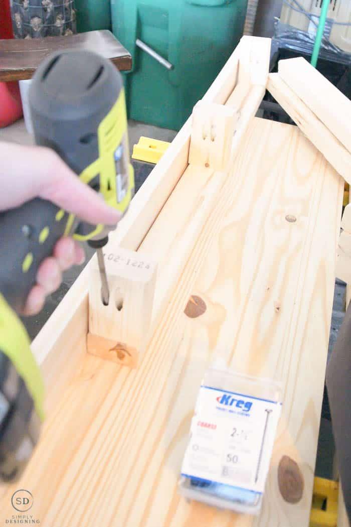 make hanging bracket for inside of floating shelves