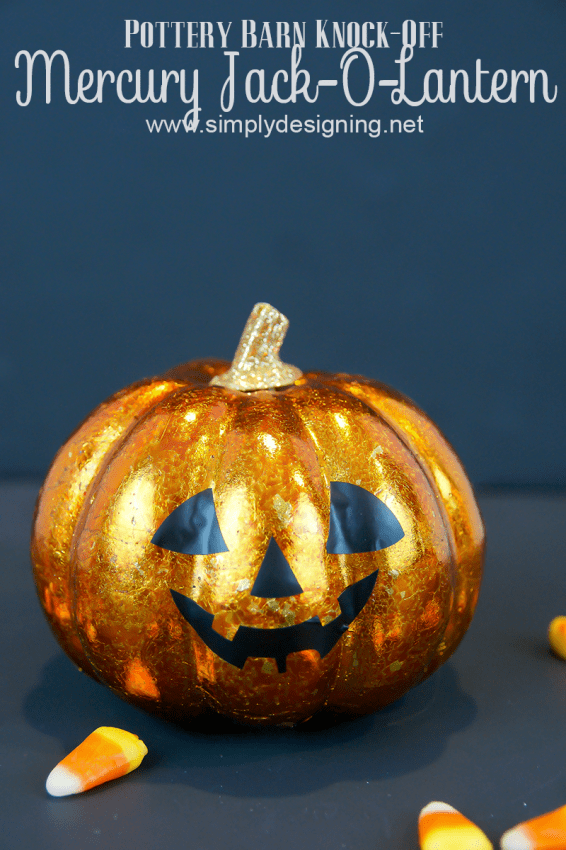 Mercury Pumpkin #halloween #crafts #pumpkin #pbknockoff #fall