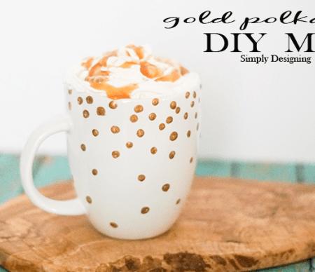 Gold Polka Dot Mug Featured Image