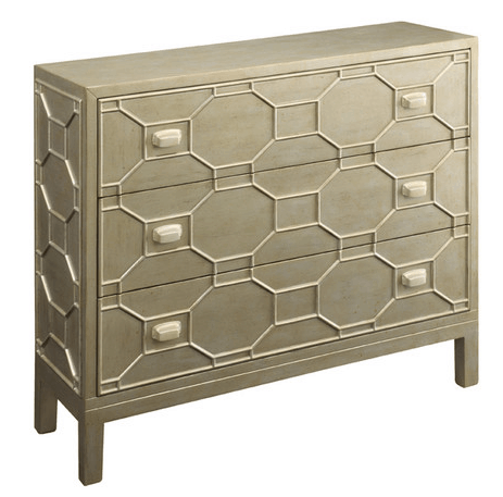 You won't believe this IKEA Hack! Make your own grace dresser from Joss and Main. This beautiful art deco inspired metallic gold honeycomb dresser is an amazing transformation using an IKEA Tarva dresser and it's so easy to do.