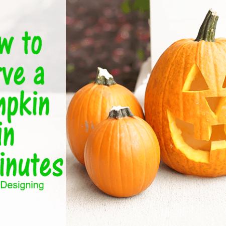 How to Carve a Pumpkin in 15 Minutes #Halloween #pumpkin #pumpkincarving #jackolantern #crafts