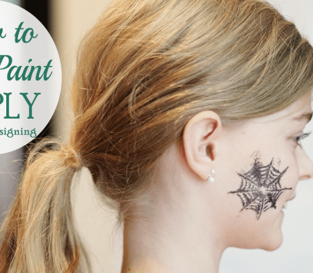 How to Face Paint SIMPLY #halloween #facepainting