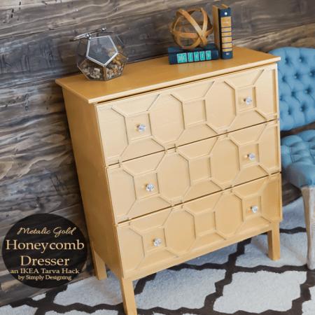 Gold Honeycomb Dresser