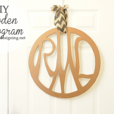 Wooden Monogram | #monogram #diy #diyblogger #homedecor