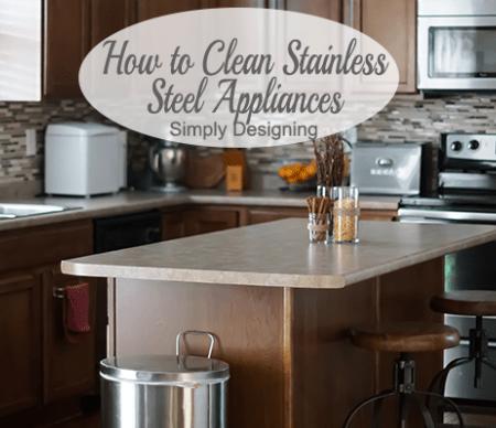 Clean Stainless Steel Kitchen Appliances