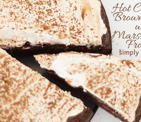 Hot Chocolate Brownie Cake with Marshmallow Frosting