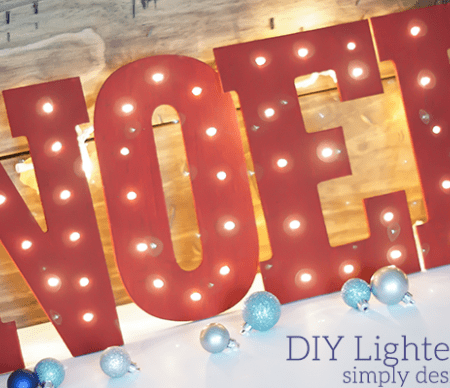 DIY Lighted NOEL Featured Image