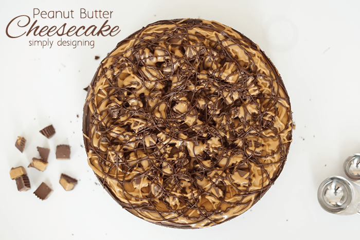 This Peanut Butter Cheesecake is amazingly delicious and rich. It will completely knock-your-socks off! It is creamy and flavorful and the peanut butter cups on top provide an amazing contrast to the bold and creamy center