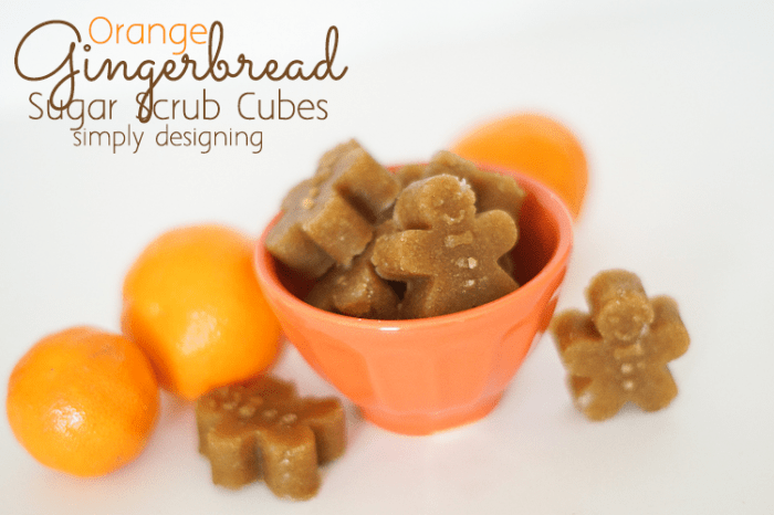 Orange Gingerbread Sugar Scrub