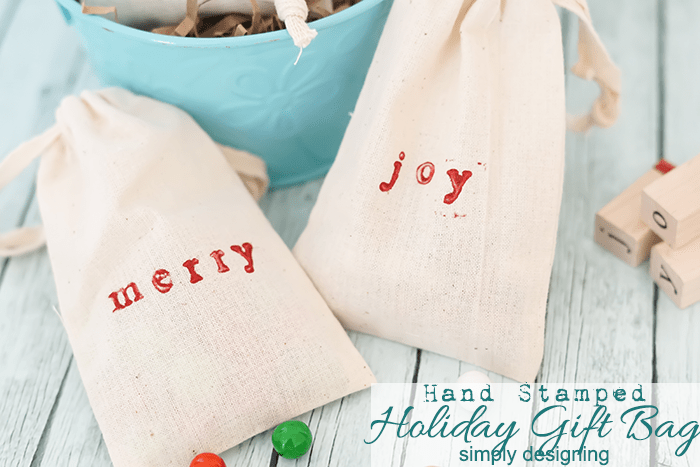 Stamped Holiday Gift Bag