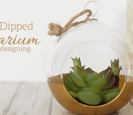 DIY Gold Dipped Terrarium featured image
