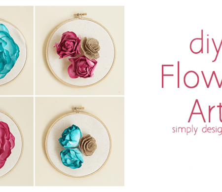 DIY Flower Wall Art