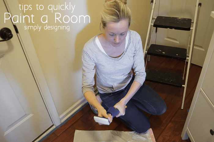 Putting pad on the Homeright QuickPainter Pad Edge Painter to paint a room fast