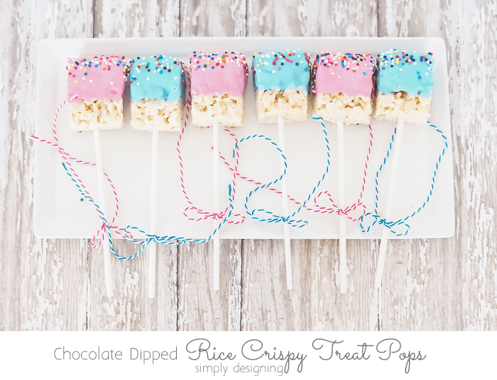 Chocolate Dipped Rice Crispy Treat Pop