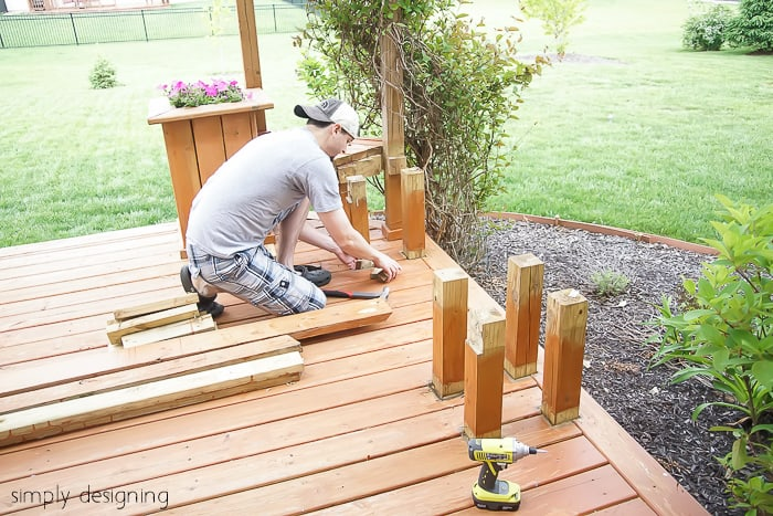 Build a porch swing easily with these free DIY plans. Get a list of cuts, supplies, and measurements for the perfect swing and you can start building your own swing this weekend.