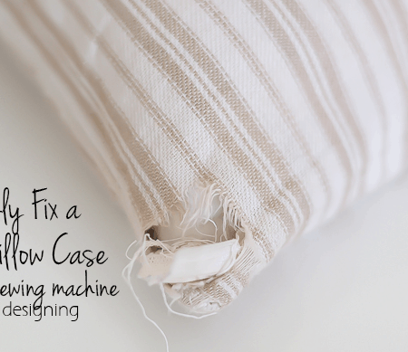 How to Fix a Worn Pillow Case without a sewing machine