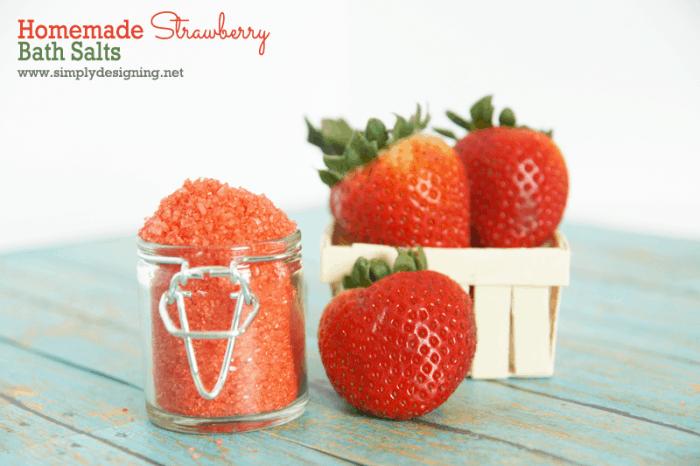 strawberry bath salts