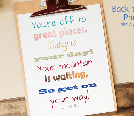Back to School Printable _ Youre Off to Great Places _ Featured Image
