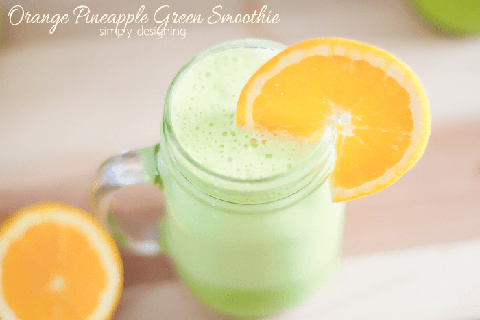 This simple and refreshing Green Smoothie Recipe is a perfect way to wake up. It is a healthy smoothie full of protein, probiotics, fruits, and vegetables and believe it or not kids love it too!