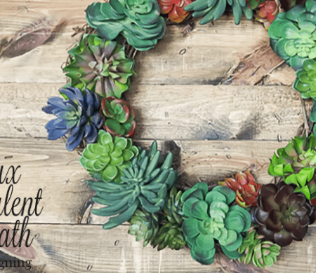How to make a Faux Succulent Wreath - featured image