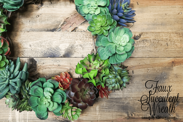 How to make a Faux Succulent Wreath just like Pottery Barns for half the price