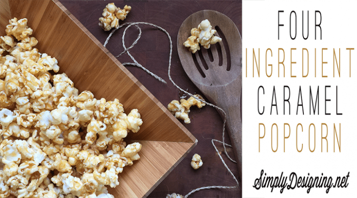 Quick 4-Ingredient Caramel Popcorn - this is so easy to make and ooey-gooey delicious!