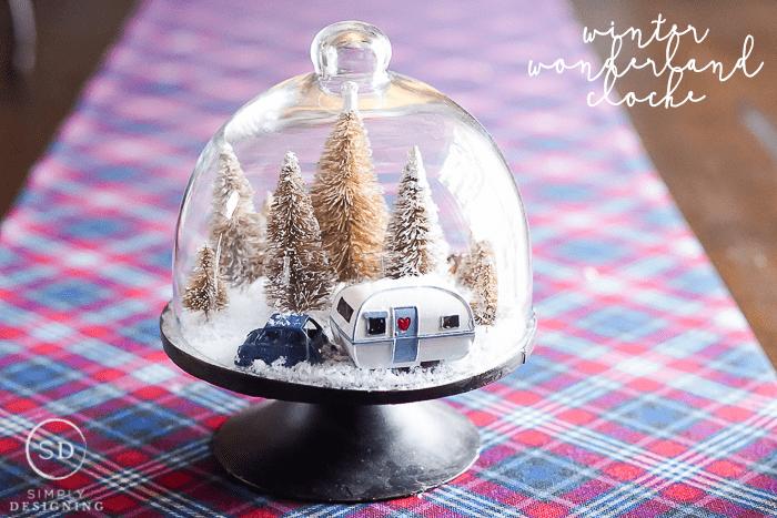 Easy DIY Winter Wonderland Gloche