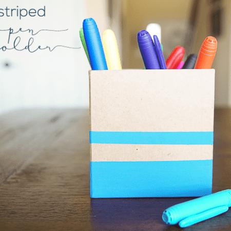 Striped Pen Holder