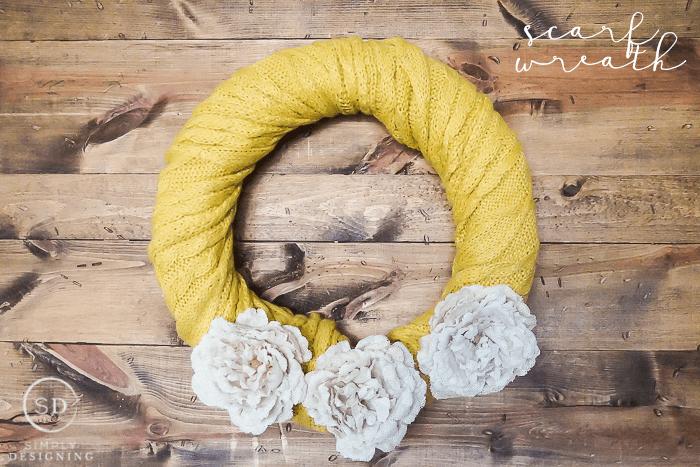 DIY Scarf Wreath