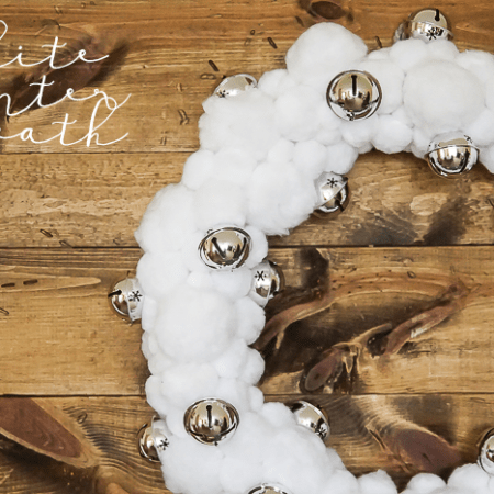 White Winter Wreath - perfect wreath for all winter long
