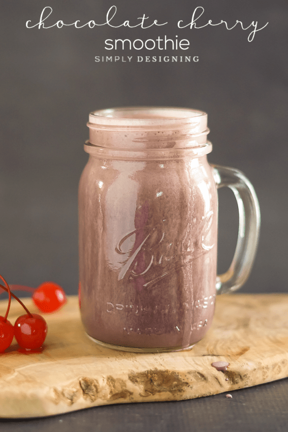 Chocolate Cherry Smoothie - healthy and delicious