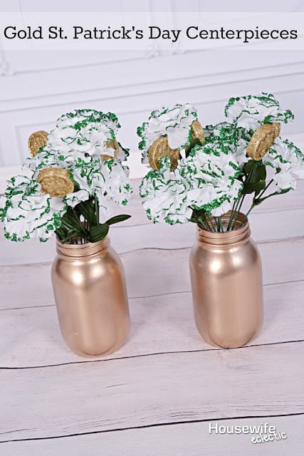 Gold St. Patrick's Day Centerpieces 1