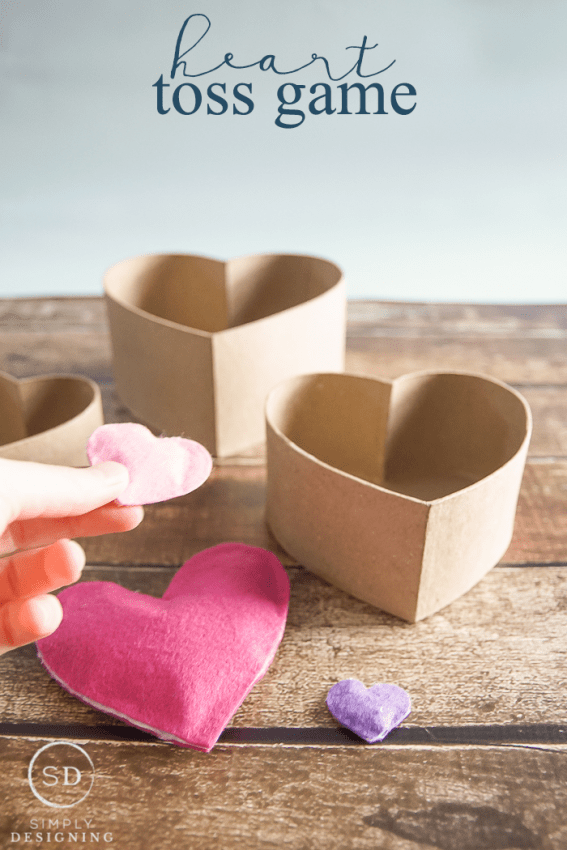 Heart Toss Game - a fun game for Valentines Day