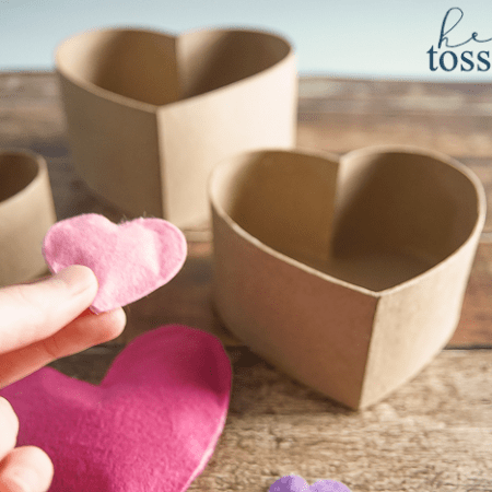 Heart Toss Game - perfect for a Valentines Day Party