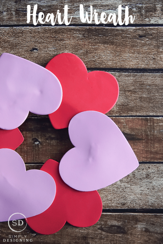 Heart Wreath - perfect kids craft for Valentines Day