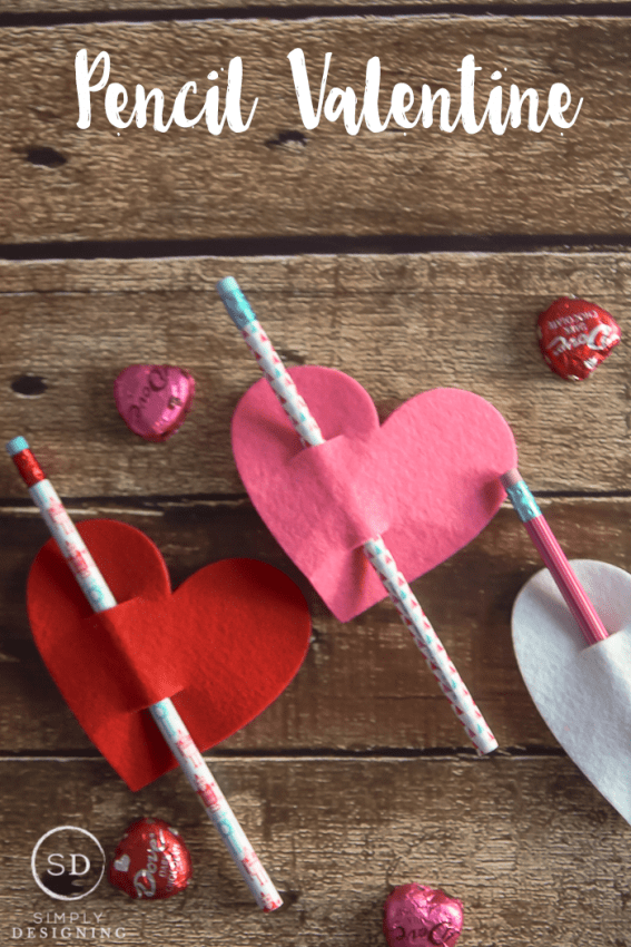 Pencil Valentines - a simple valentine to make and give
