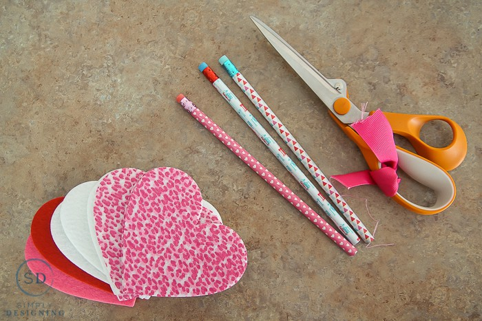 pencil valentine supplies