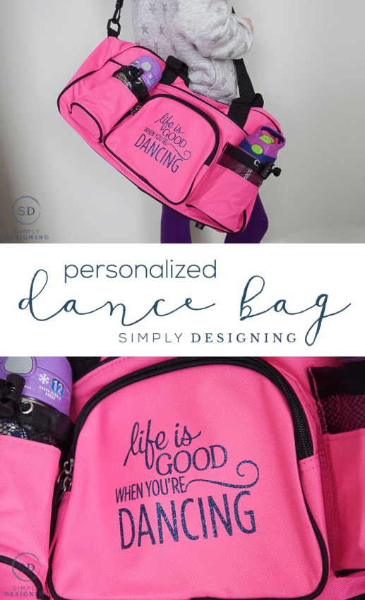 personalized Dance Bag - such a simple way to customize a dance bag for your little dancer