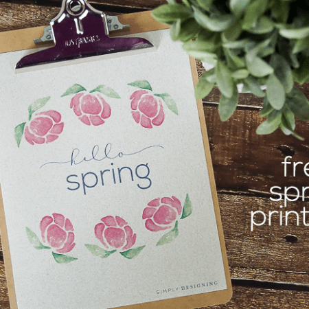 hello spring printable - a beautiful way to decorate for spring