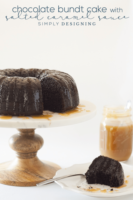 Chocolate Bundt Cake with Salted Caramel Sauce Recipe - so amazingly delicious