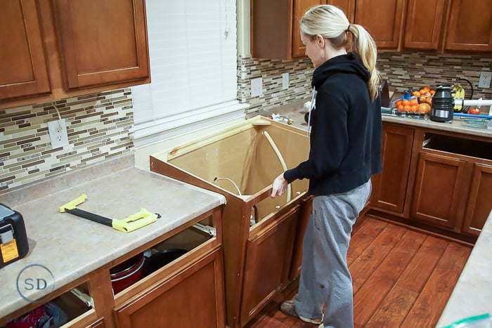remove old cabinet