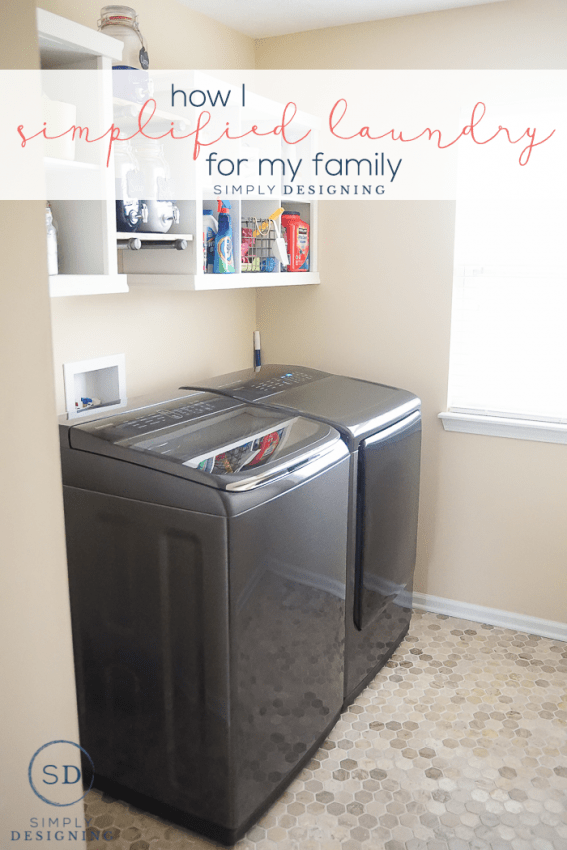 How I Simplified Laundry for my Family - 7 easy tips for make the laundry process easier