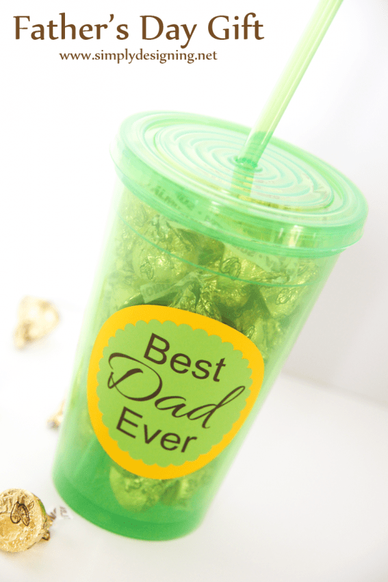 Fathers Day Gift Idea: Tumbler | such a simple and easy gift to make for your dad or husband! love this
