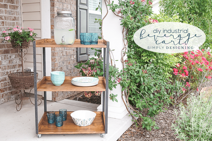 DIY Industrial Outdoor Beverage Cart