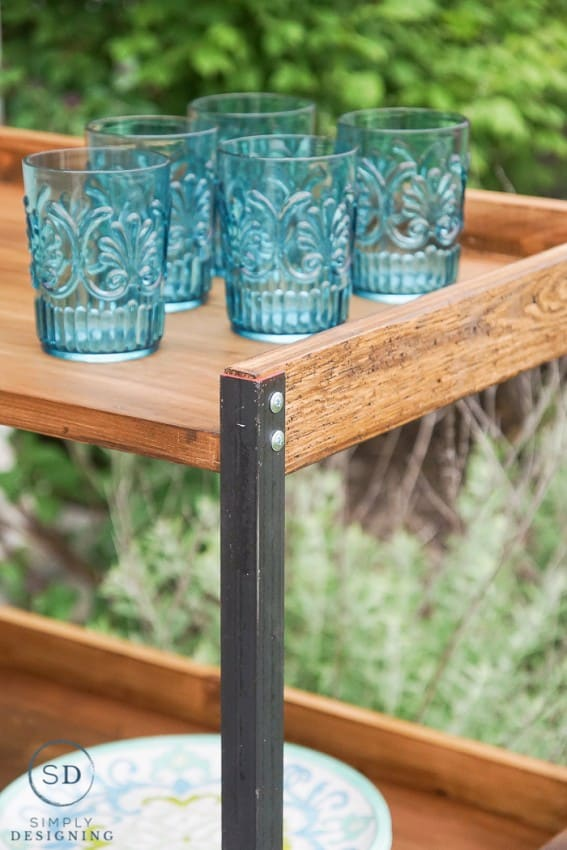 DIY Outdoor Beverage Cart
