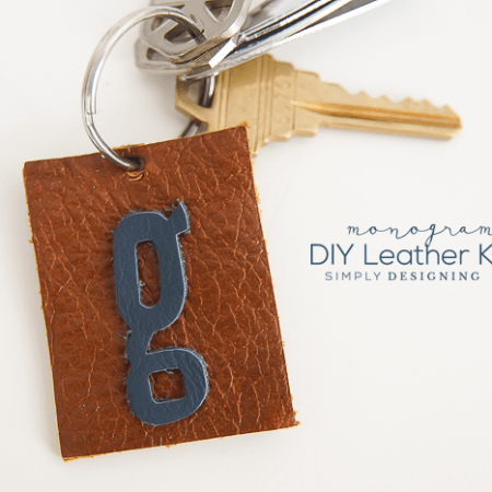 Monogrammed DIY Leather Keychain - such a simple and beautiful gift idea