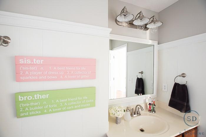 Kids Bathroom Makeover - after
